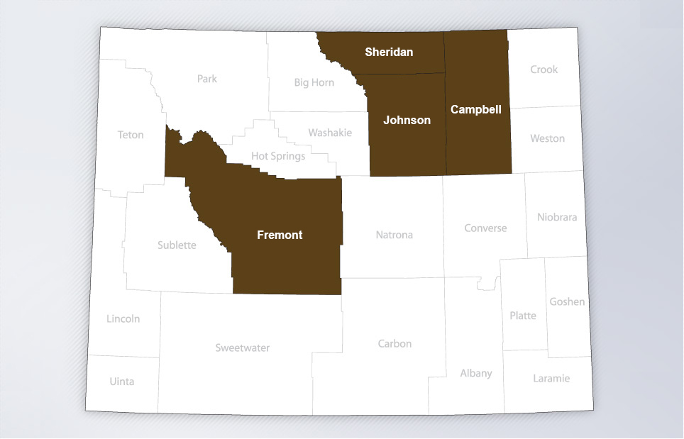 wyoming operations counties